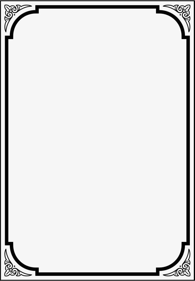 Black Frame Frame Clipart Black Decorative Pattern Png Transparent Clipart Image And Psd File For Free Download Borders For Paper Page Borders Design Frame Border Design