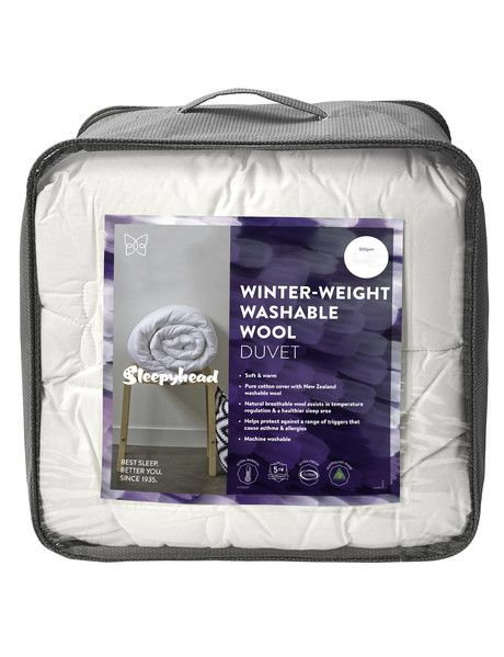 This duvet inner is perfect for those wanting a washable wool duvet inner that is breathable and has moisture wicking properties.