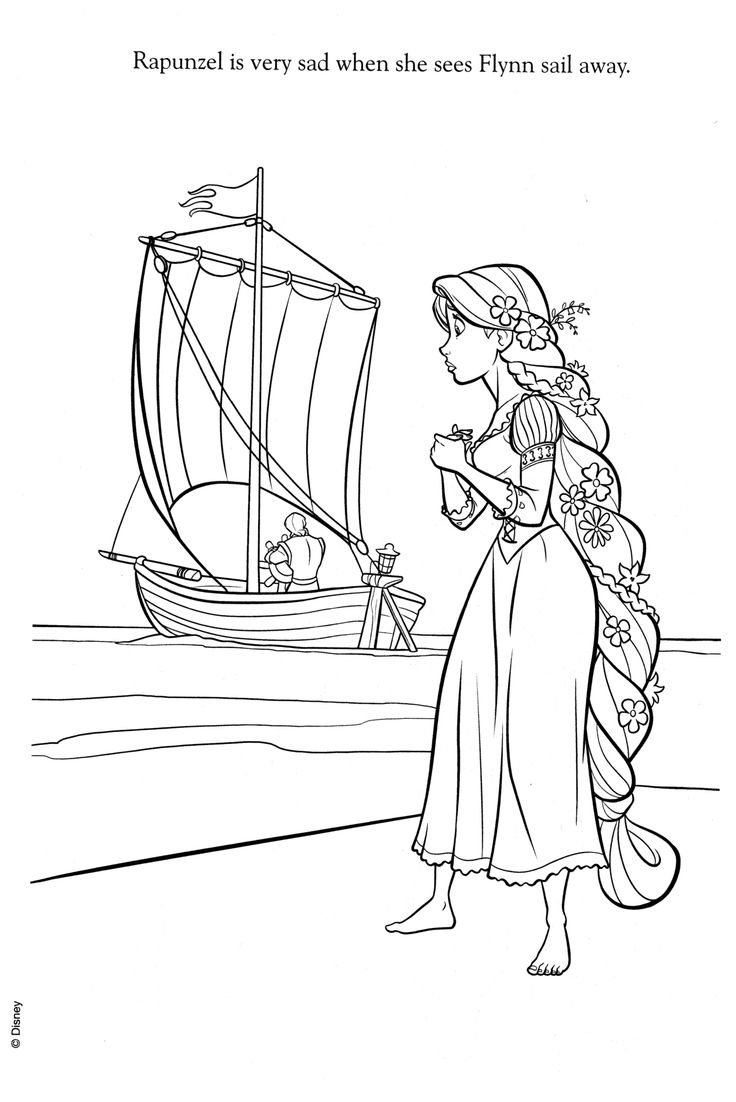 Ra rapunzel coloring pictures - Rapunzel Wedding Coloring Papges Year Ago With 10 Notes