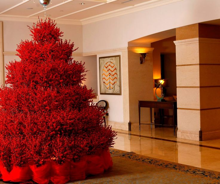 1000+ Ideas About Red Christmas Trees On Pinterest