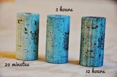 How to Dye Wine Corks