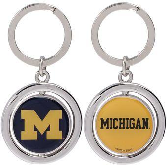 Michigan Wolverines Basketball Spinner Keychain