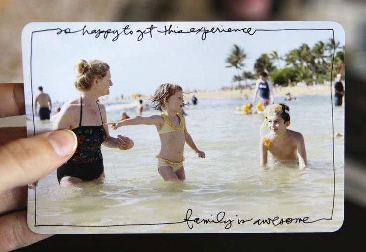 Project Life Idea:  Love how Ali wrote around her photo and framed it with a Slick Writer.