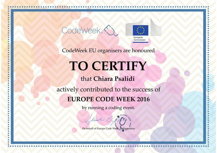 Il 7 dicembre 2016 ho organizzato per i miei ragazzi di seconda media l'evento: ORA DEL CODICE.inserito in Europe Code Week