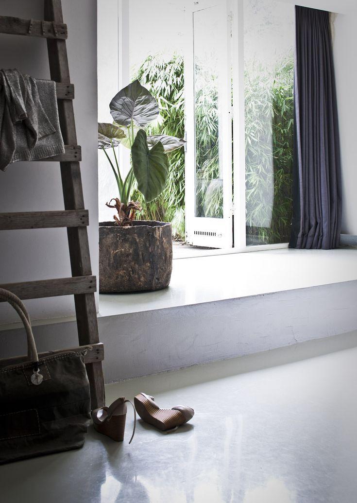 Mansion house in Amsterdam Photographer: Jeroen van der Spek | Stylist: Cleo Scheulderman #binnenkijken #vtwonen #ladder #plant #light