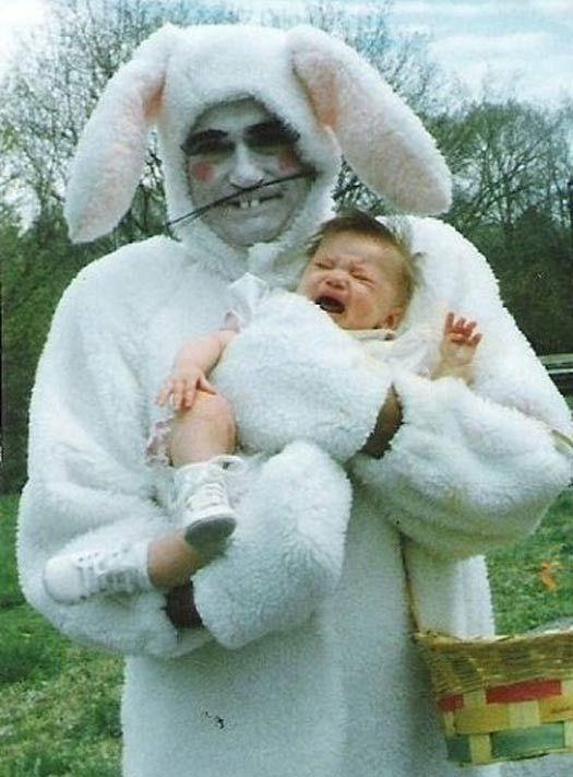Bilderesultat for scary vintage easter bunny