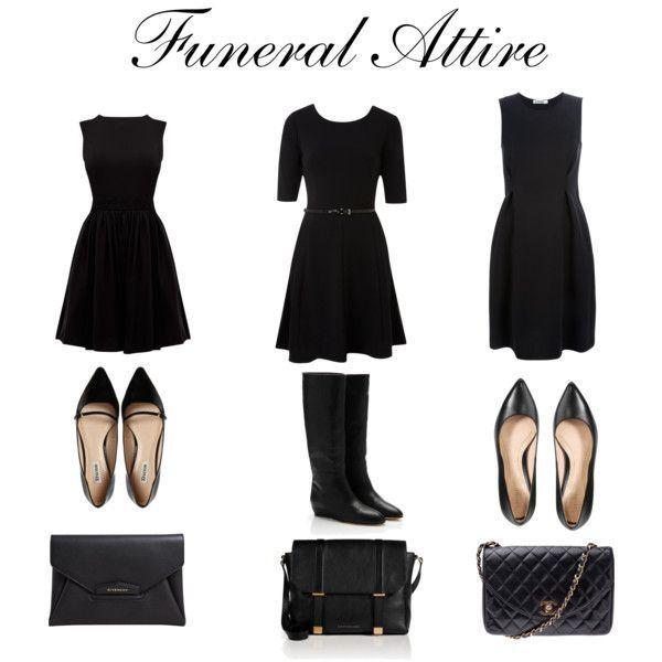 Black dress for funeral equipment