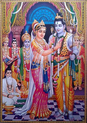 "Lord Shiva Parvati Vivah Vivaah Marriage - POSTER (Big Size 20""x28"")"