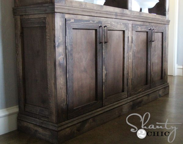 Restoration Hardware Inspired Sideboard Rustic SideboardDining Room