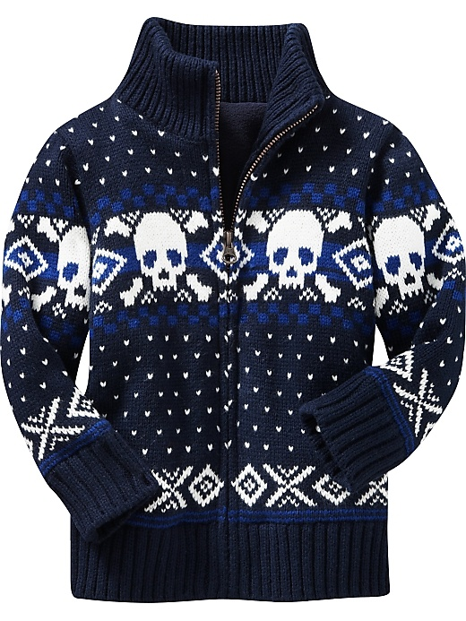 Love this little boy skull sweater!