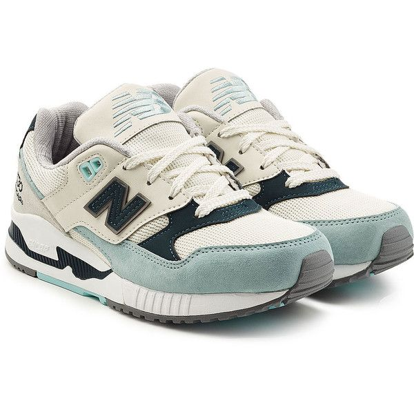 New Balance Suede and Mesh Sneakers (515 DKK) ❤ liked on Polyvore featuring shoes, sneakers, teal, mesh shoes, suede leather shoes, suede sneakers, new balance trainers and teal green shoes