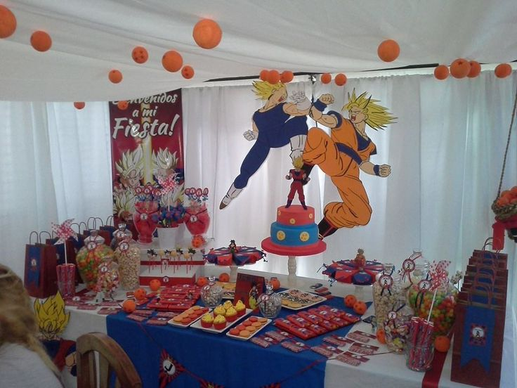 Decoracion dragon ball z fiesta dragon ball pinterest - Ideas decoracion fiestas ...