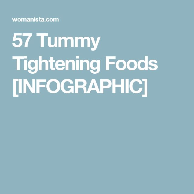 57 Tummy Tightening Foods [INFOGRAPHIC]