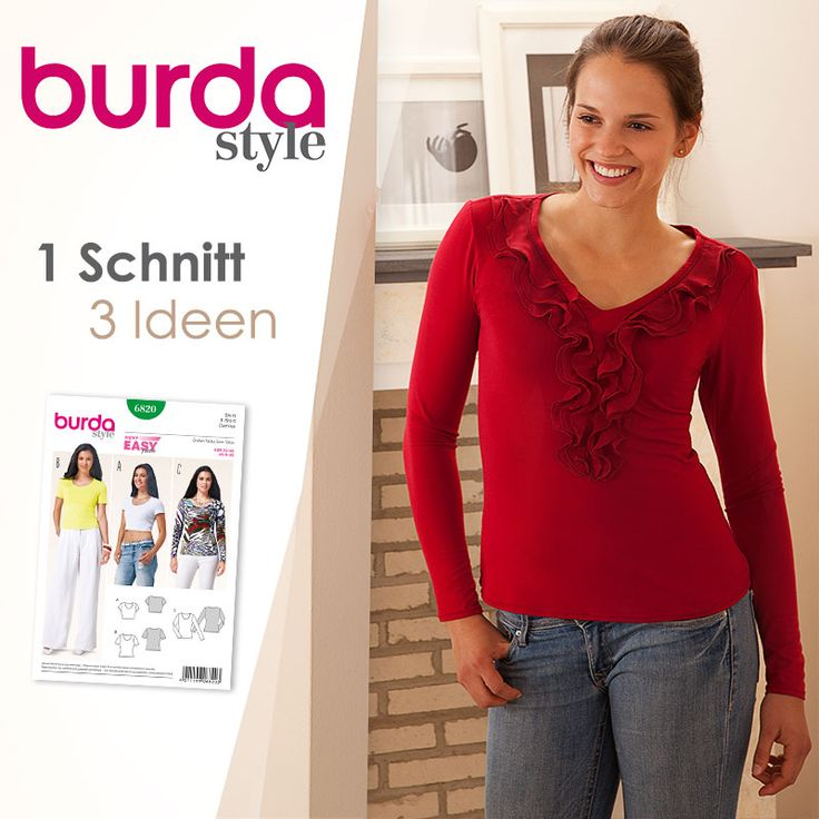 1 Schnitt – 3 Ideen: Langarm-Shirt mit Volant selber nähen | buttinette Blog