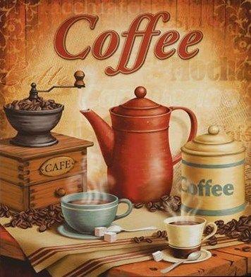coffee print. Mais