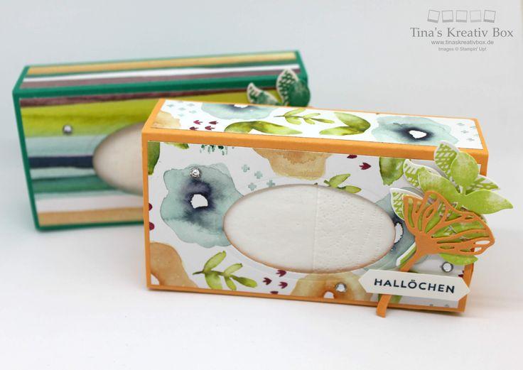Taschentücher Verpackung - mit Produkten von Stampin' Up!