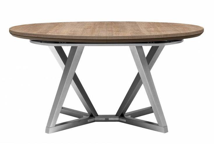 Table ovale chene gris (Chêne smoke)
