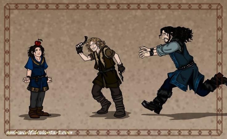 The Hobbit- Fili Knife Throwing Practice