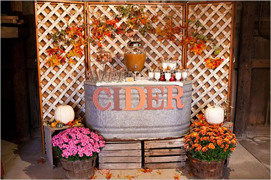 Love the galvanized tub used for a drink station!