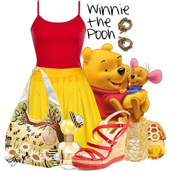"""Winnie the Pooh - Summer - Disney"" Outfit ♡ by rubytyra on Polyvore"