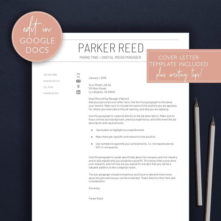 Google docs resume template modern resume professional