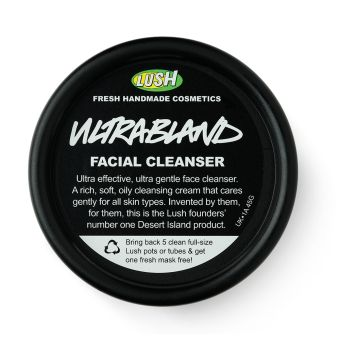 £7.50 - 45g, £11.95 - 100g  Ultrabland Cleanser Like Eve Lom Cleanser, but suited to drier skins. Use a pea sized amount. Gets absolutely everything off. Hot cloth and tone thoroughly afterwards.