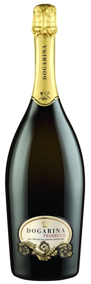 Sparkling wine - MAGNUM DOGARINA PROSECCO Doc Treviso extra dry - Our Extra Dry not only has a nice minerality to it but also has an energy that runs throughout this sparkling wine. Along with the typical characteristics of Prosecco, aromas of fruit and flowers, our Extra Dry Prosecco has a wonderful acidity thanks to it calcareous nature.   Excellent for an aperativo during Happy Hour with hors d'oeuvres, but also with ethnic and sweet and sour dishes.