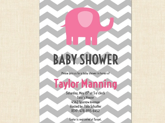 elephant baby shower decorations pink gray baby by busychickadees 20