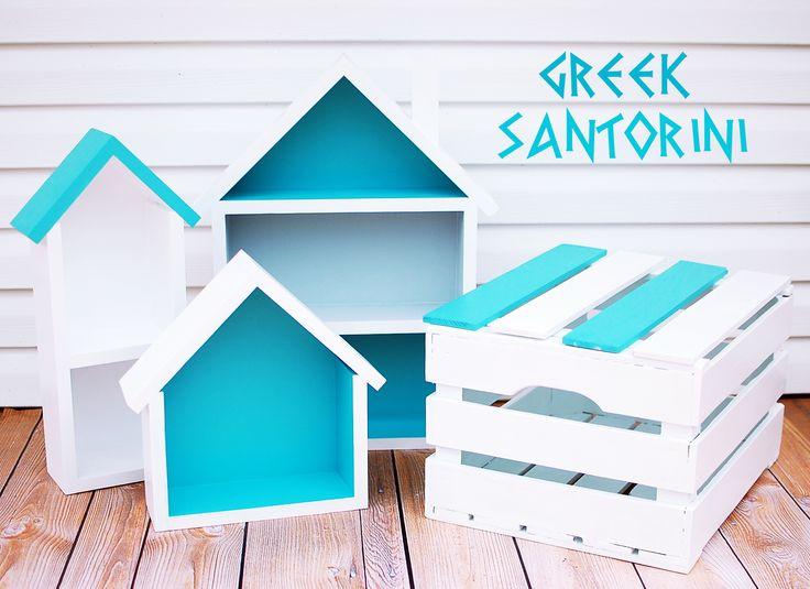 Wakacyjna seria- GREEK- Santorini – komplet domków | Tere fere kuku…