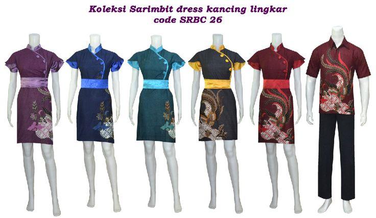 sarimbit dress batik dengan bahan katun + satin silky , dapat anda miliki dengan harga Rp130.000 /pasang.  untuk detail dan koleksi batik lain nya silahkan mengunjungi kami di http://batikbutikqalesya.wordpress.com/sarimbit-dress/