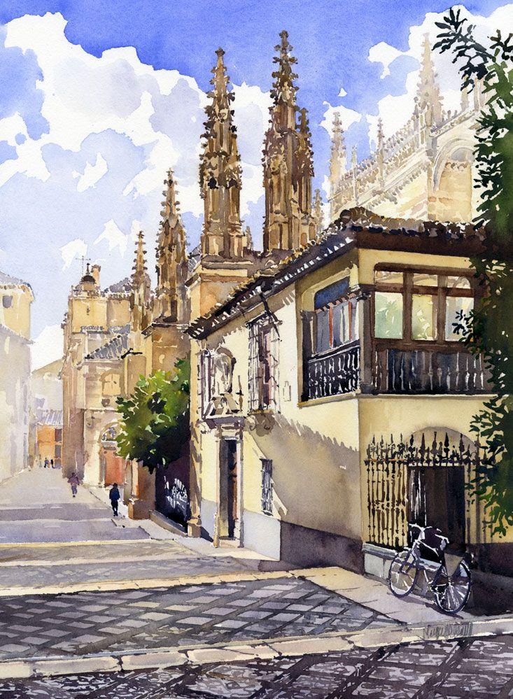 Calle Oficios and the Royal Chapel of Granada