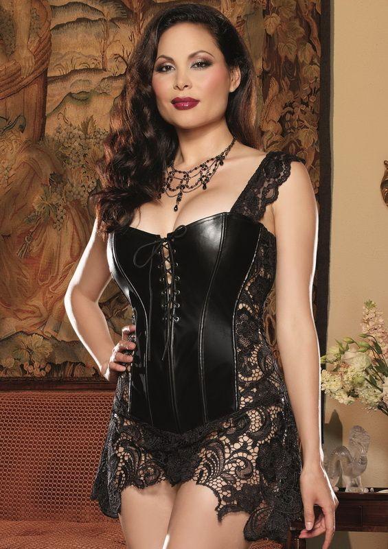 Plus Size Beyonce Faux Leather Corset | Sexy lingerie ...