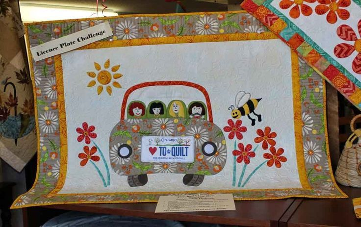 row by row license plate quilt