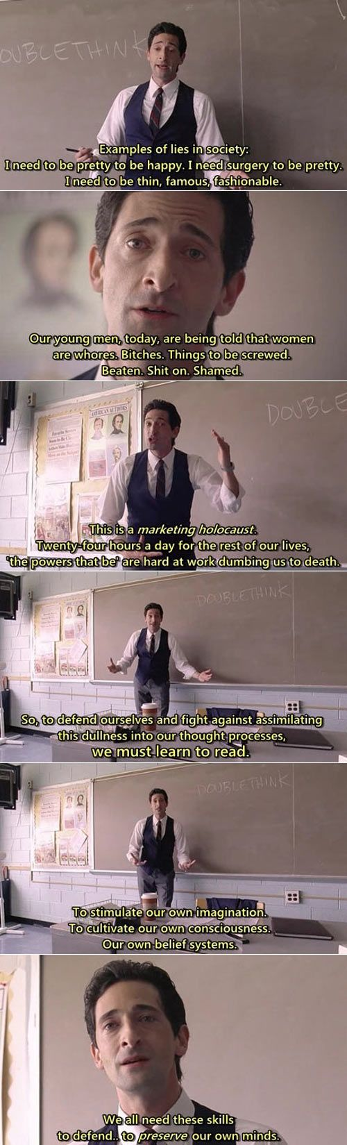 ....and why we need to keep religion out of schools....because A WOMAN DID NOT COME FROM MANS RIB DAMN IT!  BTW - Movie: Detachment
