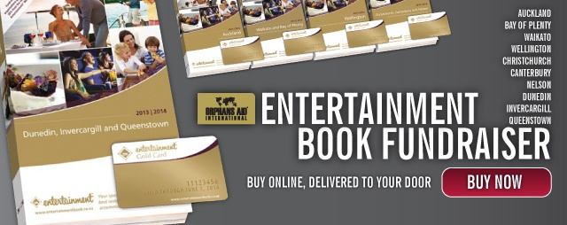 If you live in New Zealand, our Entertainment Book fundraiser is now on! Get in quick and help our very worthy cause.