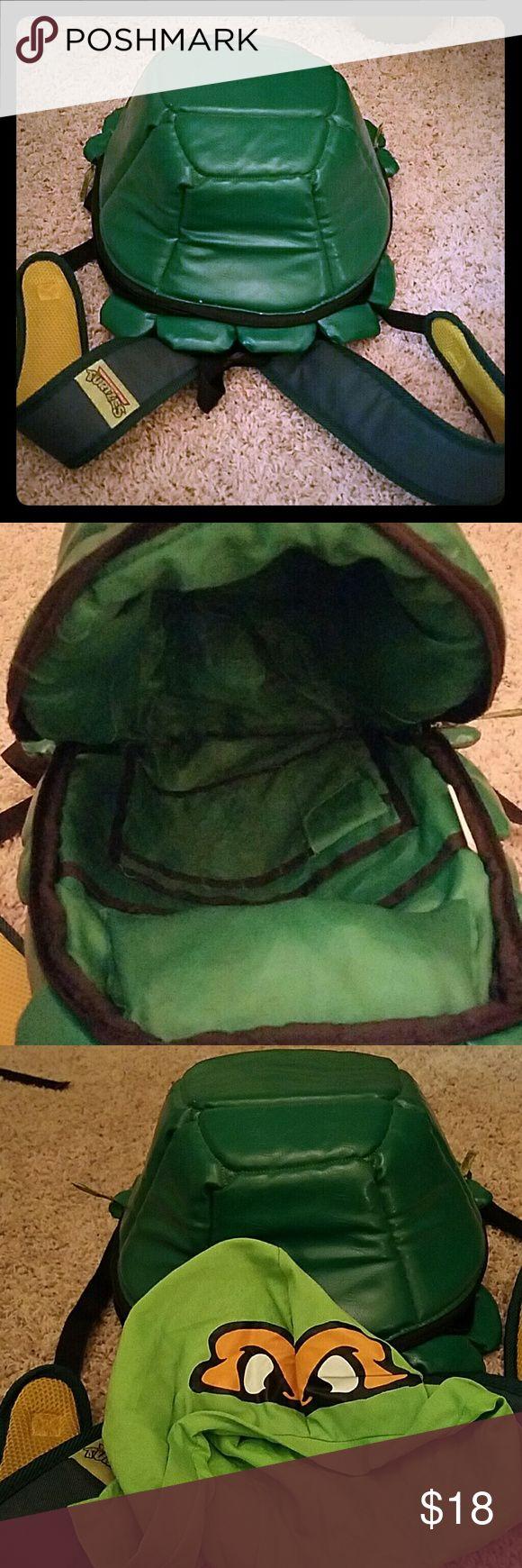 TMNT ninja turtle backpack TMNT backpack with Michael Angelo hood that Unzips out. Nickelodeon Bags Backpacks