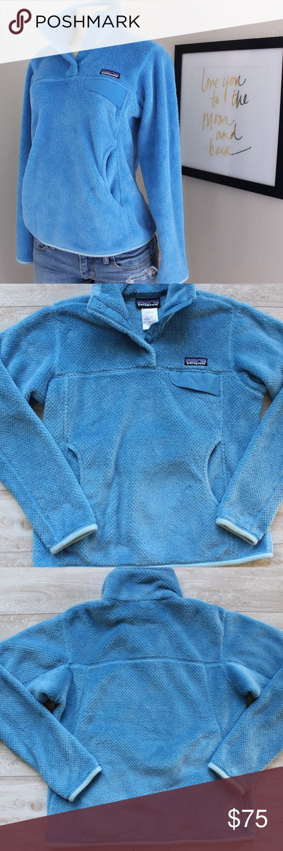 Patagonia Retool Sweater Pullover⭐️ Patagonia retool Pullover Sweater, EUC, absolutely stunning sky blue color, size small, keeps you warm and looking super cute ⭐️ Patagonia Sweaters