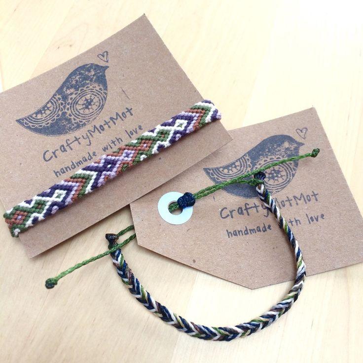 Custom fishtail bracelet handmade waxed string adjustable