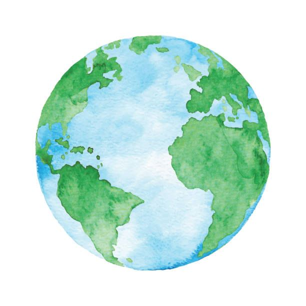Royalty Free Planet Earth Clip Art Vector Images Earth Drawings Earth Illustration Planet Drawing