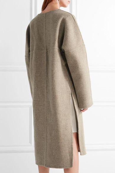 Mushroom wool Slips on 100% wool Dry clean Designer color: Heather