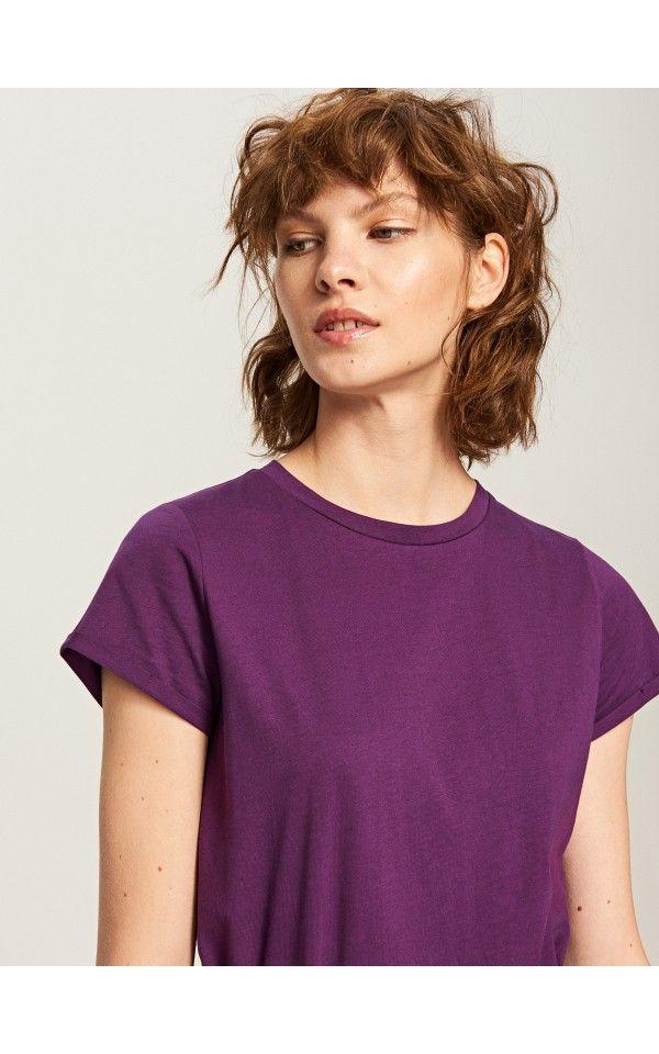 b372723d35 Egyszínű T-shirt, Pólók, bordÓ, RESERVED | ruhák | Pinterest