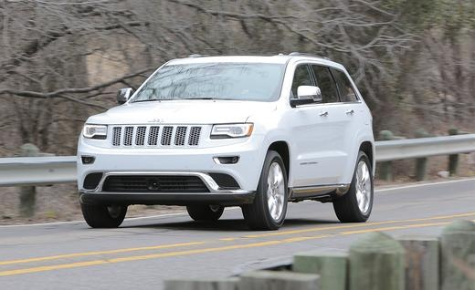 2014 Jeep Grand Cherokee - a girl can dream!  white exterior, tan interior, sunroof, and seat warmers