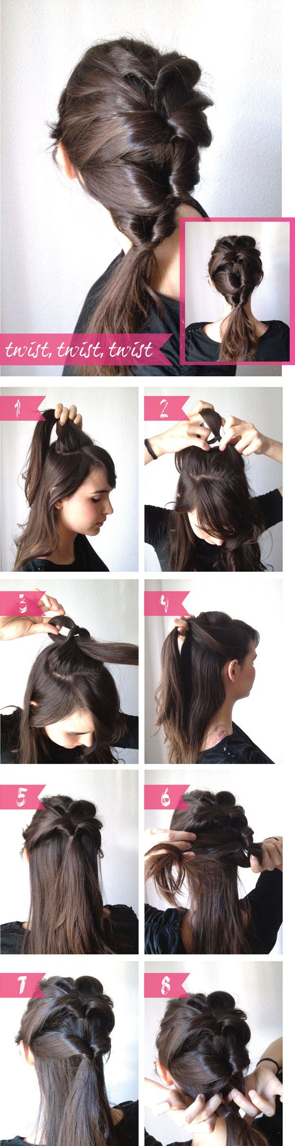 Diy hairstyle http://imageshaven.com/diy-hairstyle-54/