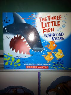 "The Three Little Fish and the Big Bad Shark An ocean version of ""The Three Little Pigs"""