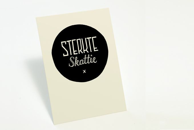 """Sterkte Skattie"" Illustrated card by Tatjana Buisson Design/ Illustration"