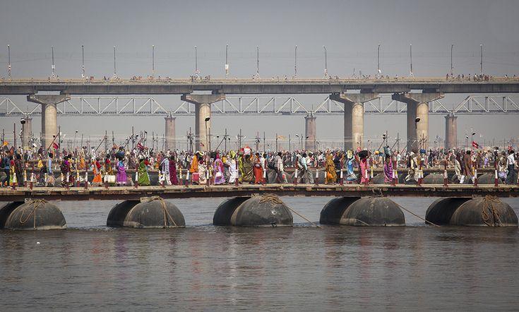 Pilgrims at Kumbh Mela, Allahabad, India