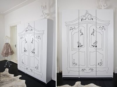 what to do with a plain Ikea wardrobe