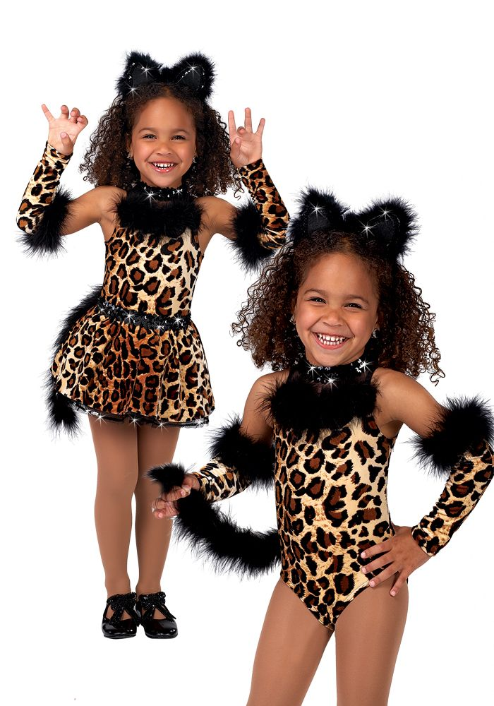 812 - Leotard Untamed - We've caught ourselves a little leopard in a velvet leotard with marabou feather trim.