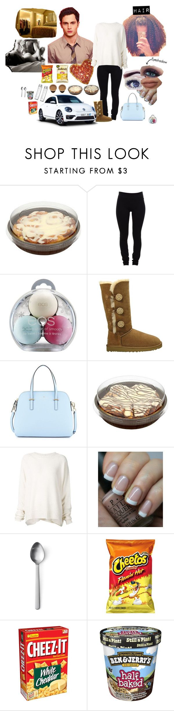 """Fun Time W. The Boyfriend"" by simply-netflix ❤ liked on Polyvore featuring Helmut Lang, Eos, UGG Australia, Kate Spade, Urban Decay, URBAN ZEN, OPI and Menu"