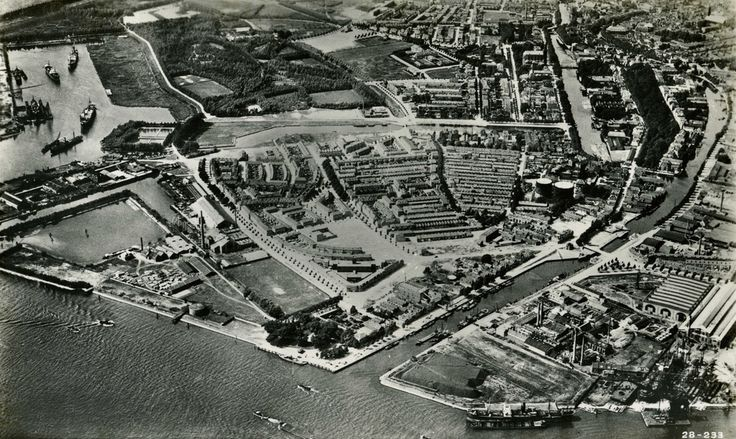 luchtfoto van de gorzen 1928